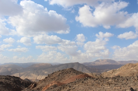 view from the Israel National Trail, looking toward Egypt.
