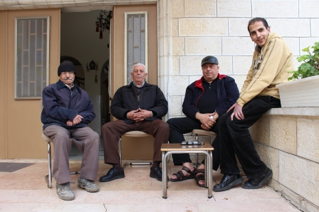 Men who run a Greek Orthodox church in Beit Sahour.