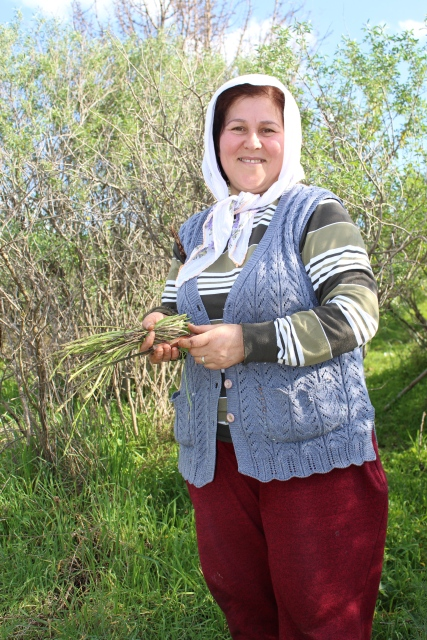 in Selcuk: She was harvesting some plants when I asked her for directions to Ephesus.