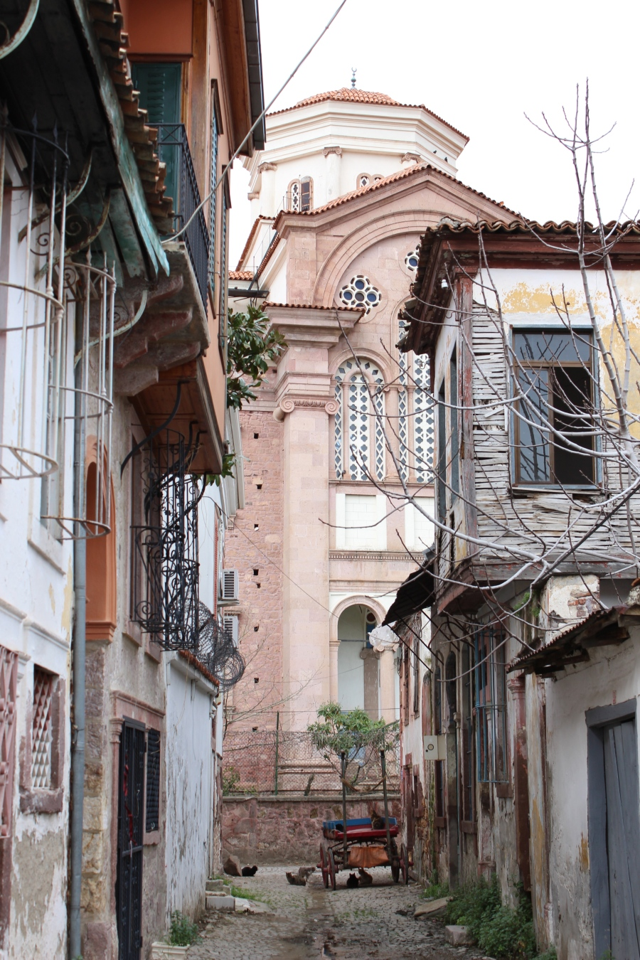 The neighborhood surrounding a church in Ayvalik.