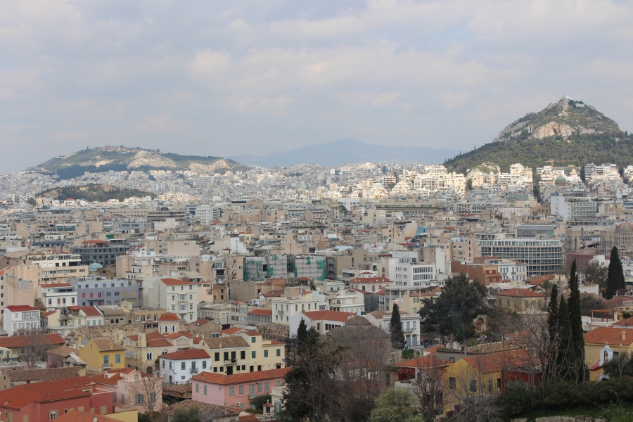 Athens, as viewed from the Acropolis.