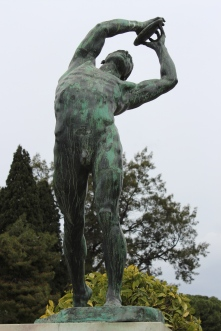 Discus thrower in Athens.
