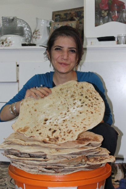 Every 10 days Leyla makes TONS of naan (bread).