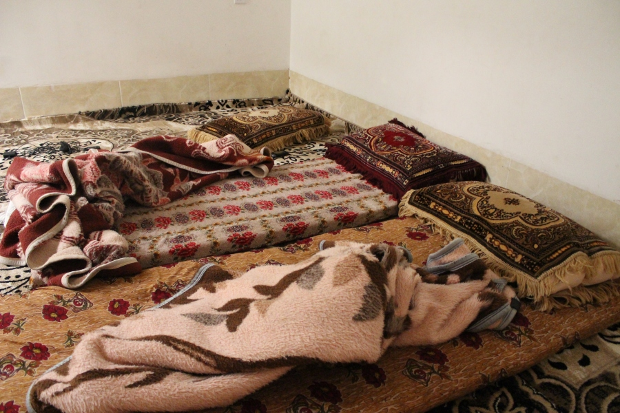 This is where we sleep - mattress/cushions (doshek), thick blankets (batani), and a pillow. There are no beds in Kurdish houses, and though certain rooms may be reserved for people (this was the girls' room), doshekakan can be dragged anywhere. Easy peasy, and comfortable, too.