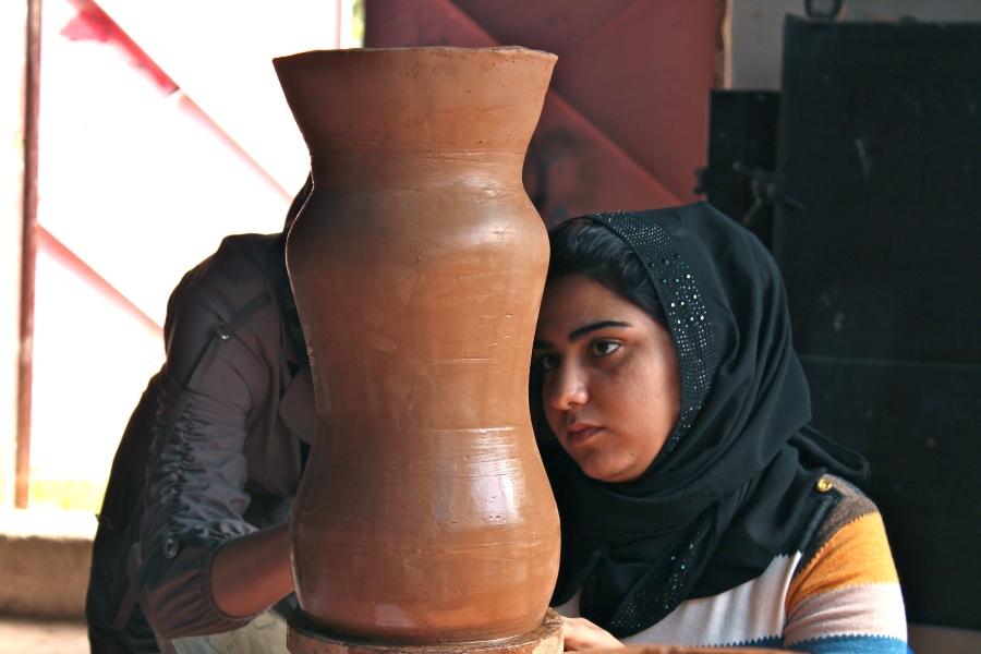 pottery class at Parez's art school.