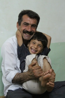 Hama and his dad. Parents and children are very very affectionate; it warms my heart to see it.