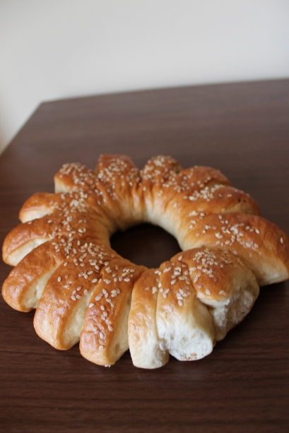 A sweet bread, filled with yummy date paste.