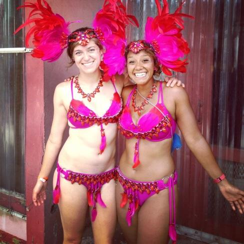 Rachel & Alisha, dolled up for Carniva