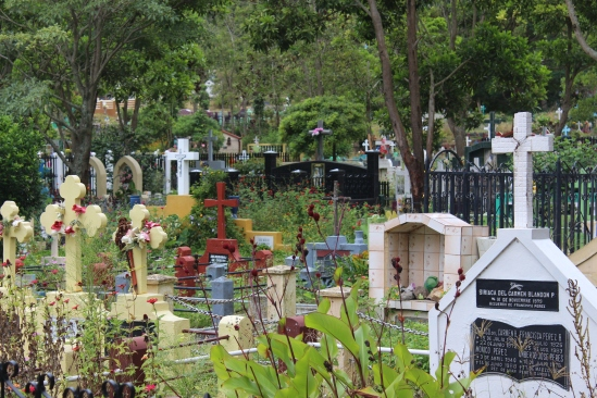 A Jinotegan graveyard, candy-colored.