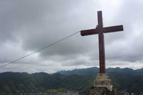View of Jinotega from the summit where the city's cross is planted.