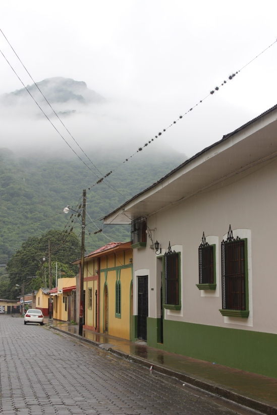 View of the misty mountains from Jinotega.