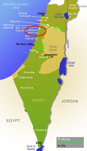 Maagan Michael Location