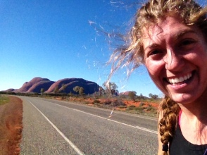 Biking to Kata Tjuta
