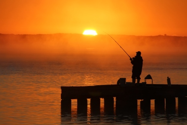 Catching the rising sun in Augusta, Western Australia